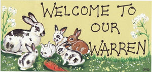 Welcome To Our Warren Rabbit Sign