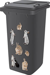 Bunny Rabbit Wheelie Bin/Wall Decals