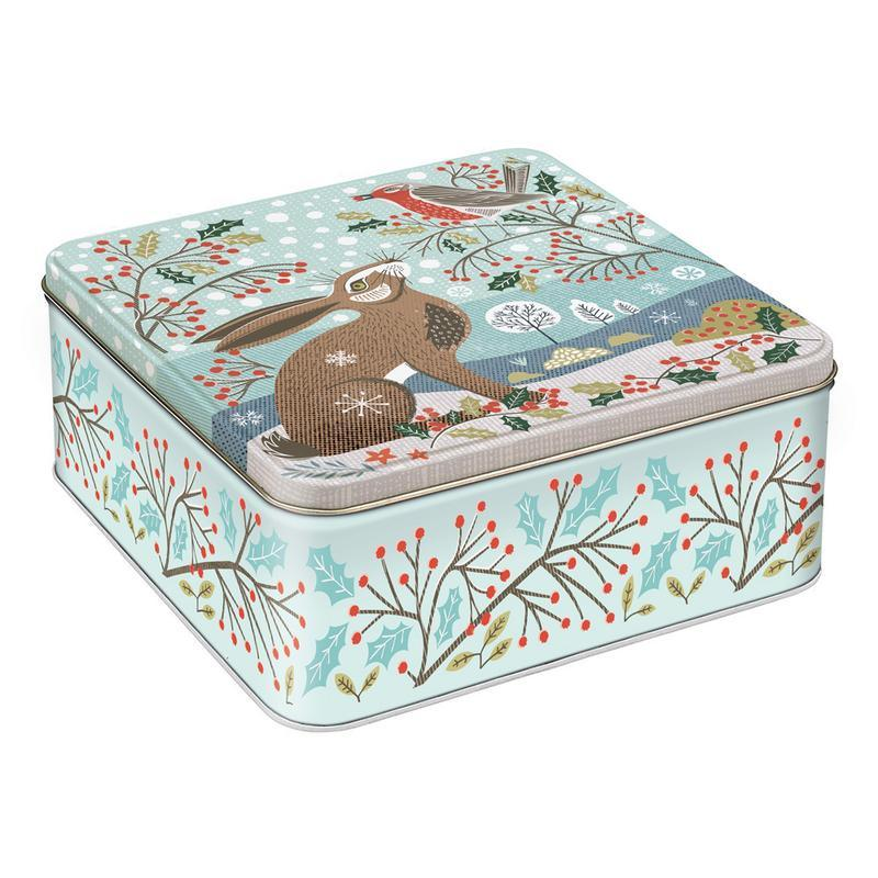 Hare & Robin Metal Storage Tin