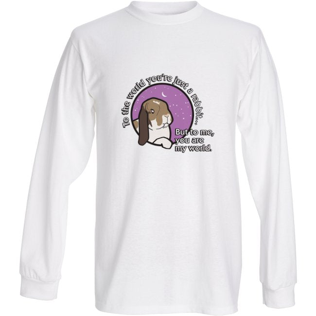 Milly Moo Bunny Rabbit Unisex White Longsleeve T-shirt