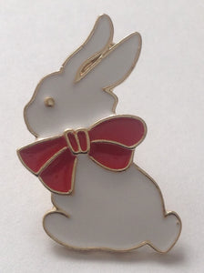 White Bunny Brooch/Pin