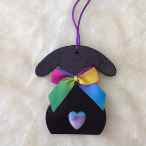 Exclusive Handmade Rainbow Rabbit Decoration - Last One