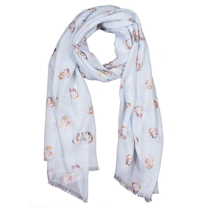 Wrendale Designs Blue Guinea Pig Scarf