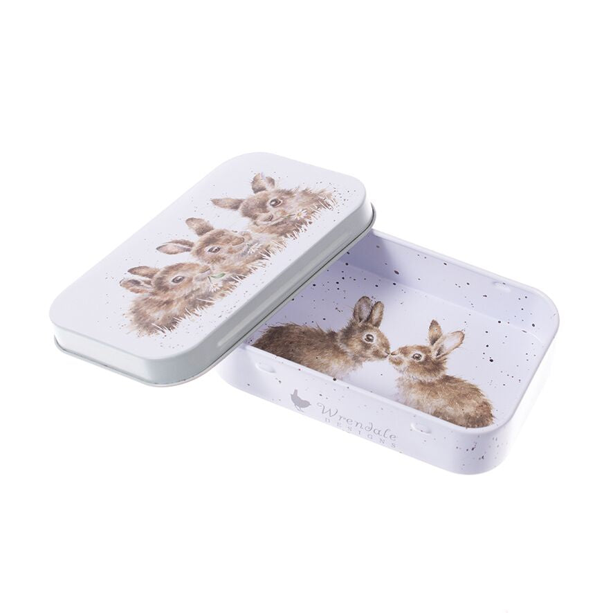 Wrendale Designs Daisy Chain Bunny Rabbit Mini Tin