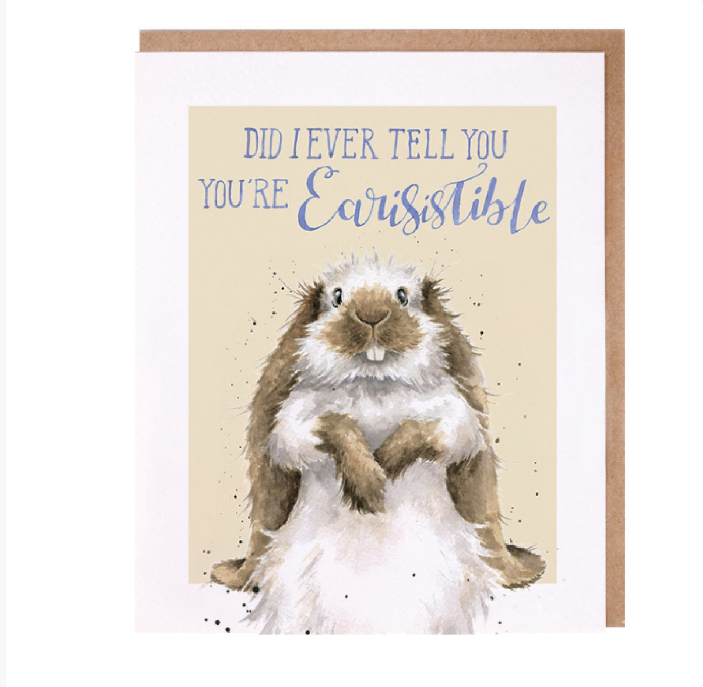 Wrendale Designs Earisistable Bunny Card