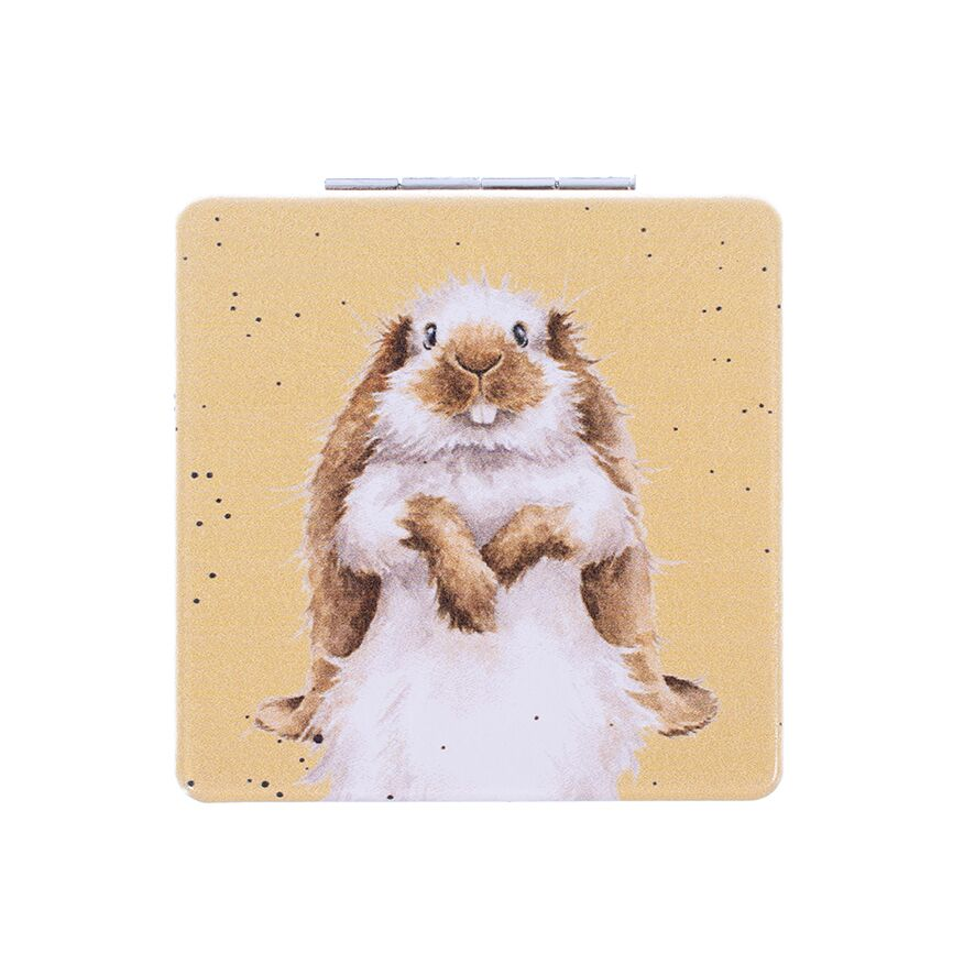 Wrendale Designs Earistable Lop Bunny Rabbit Vegan Compact Mirror