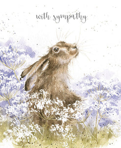 Wrendale Designs Here For You Hare Sympathy  Card