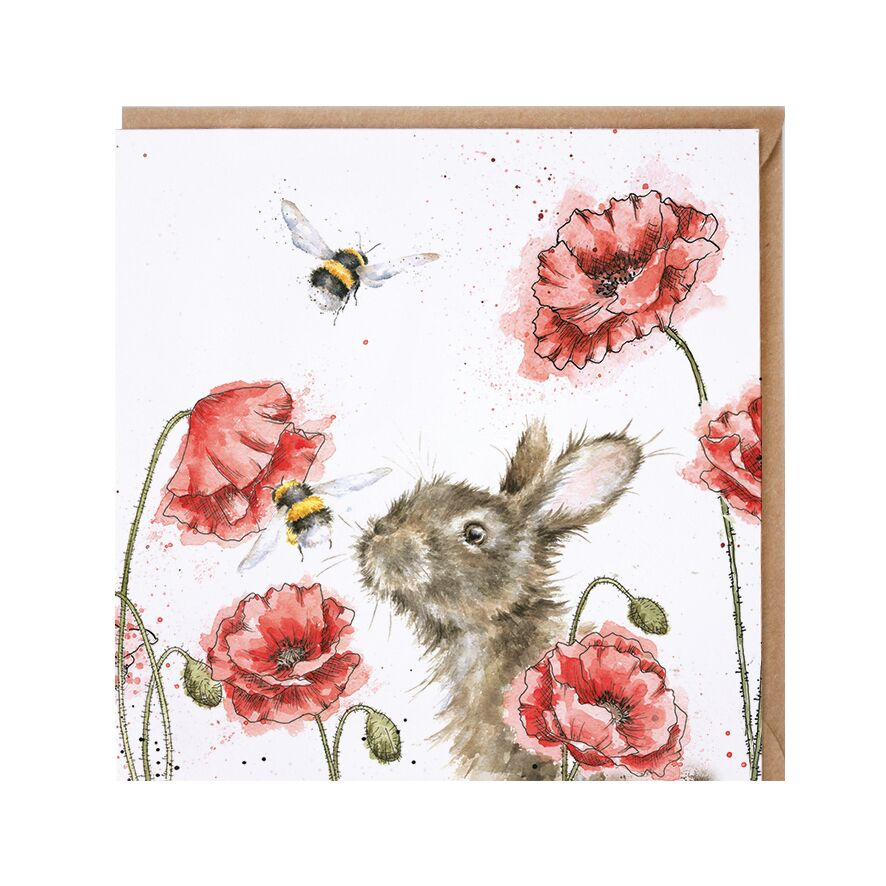 Wrendale Designs Let it Bee Bunny Card