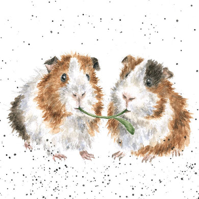 Wrendale Designs Lettuce Be Friends Guinea Pig Card