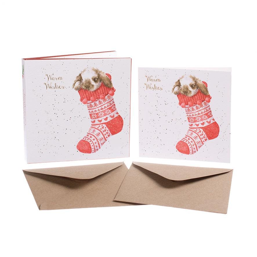 Wrendale Designs Lop Eared Rabbits Christmas Card pack