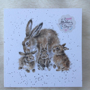 Wrendale Designs Furever & Always  Mother's Day Bunny Rabbit Card