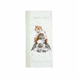 Wrendale Designs Piggy In The Middle 2021 Slim Diary