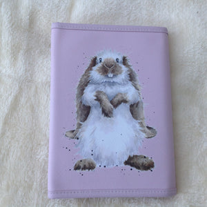 Wrendale Designs Piggy In The Middle Bunny Rabbit Notebook Wallet