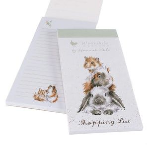 Wrendale Designs Piggy In The Middle Bunny Shopping List