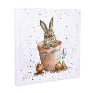 Wrendale Designs The Flower Pot Canvas Art