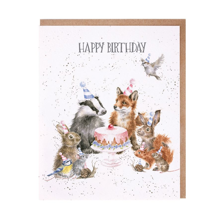 Wrendale Designs Woodland Birthday Rabbit Card