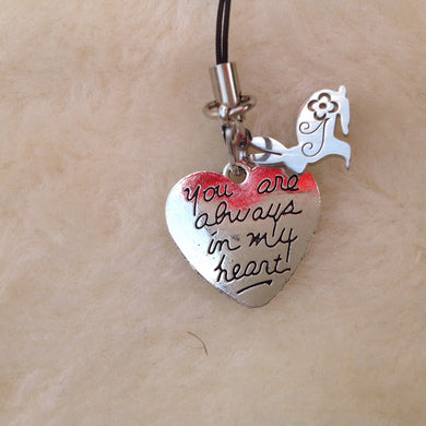 You Are Always In My Heart Memorial Rabbit Charm