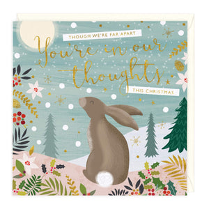 You Are In My Thoughts Rabbit Christmas Card