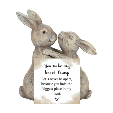You Make My Heart Thump Bunny Rabbit Ornament