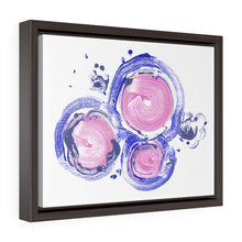 'inside love' canvas wrap print with frame