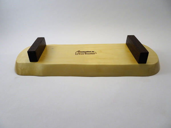 Maple and Wenge Footed Tray