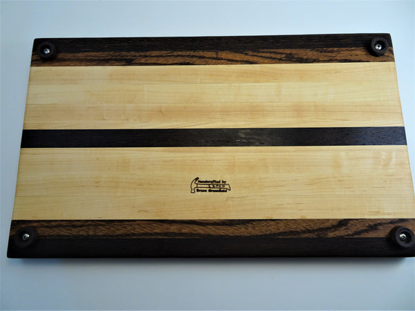 Large Wenge-Zebrawood-Maple Cutting Board