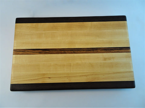 Medium Wenge/Maple/Zebrawood cutting board