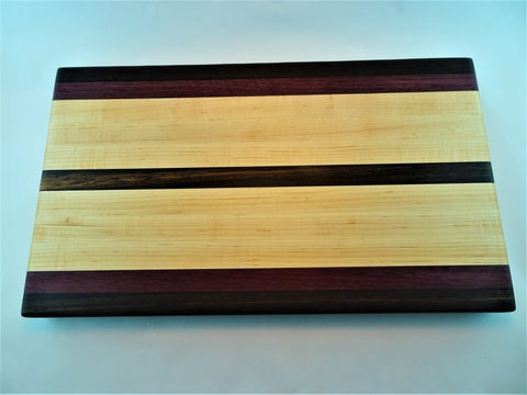 Large Wenge/Purpleheart/Maple Cutting Board