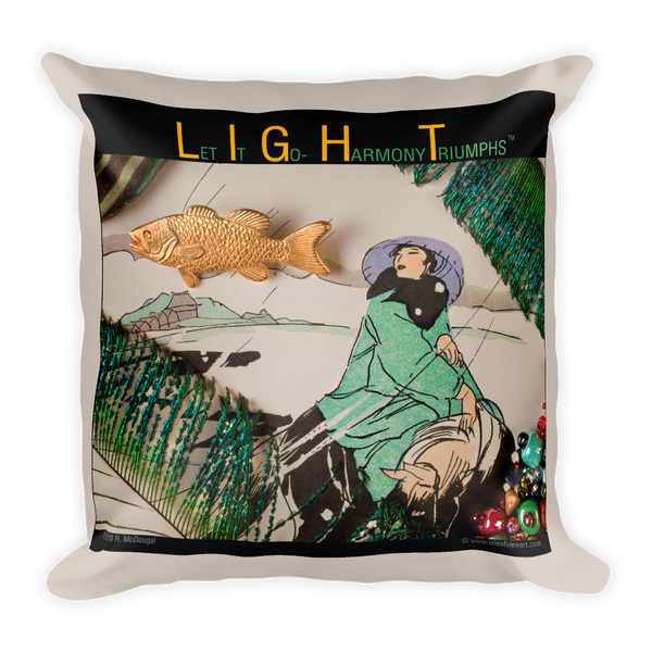 L.I.G.H.T. - Let It Go - Harmony Triumphs Pillow