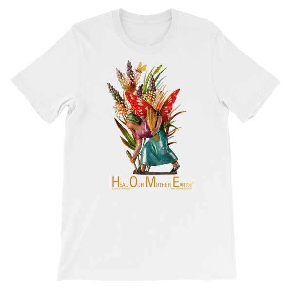 H.O.M.E. - Heal Our Mother Earth...... - lady harvester - floral