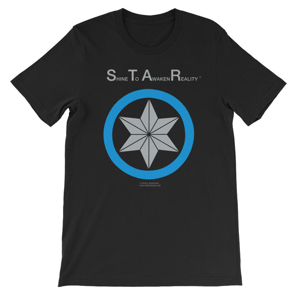 S.T.A.R. - Shine To Awaken Reality......  - star in circle - blue & silver