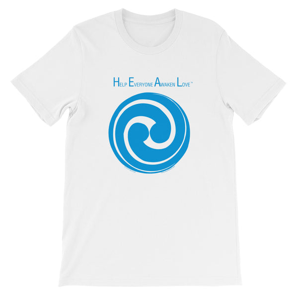 H.E.A.L. - Help Everyone Awaken Love..... - Swirling circle - blue
