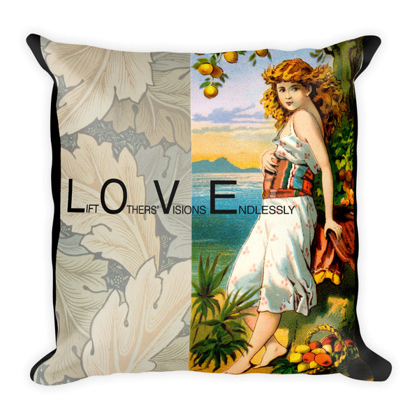 L.O.V.E. - Lift Others' Visions Endlessly Pillow