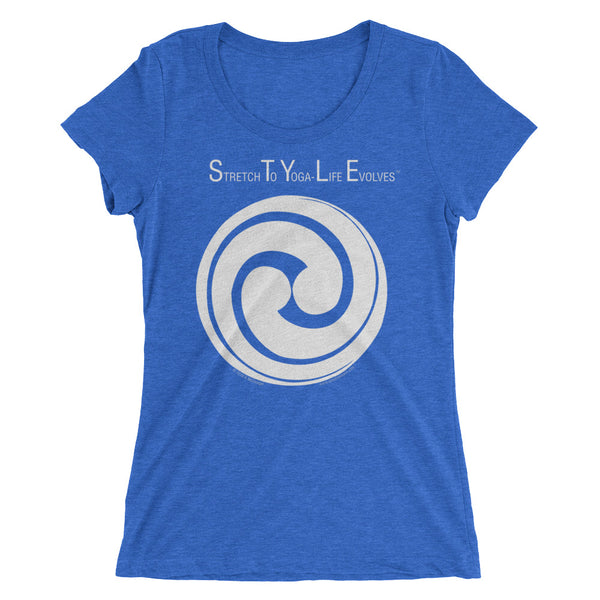 S.T.Y.L.E. - Stretch To Yoga - Life Evolves...... -  Swirling circle - white