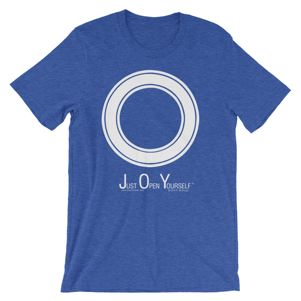 J.O.Y. - Just Open Yourself...... - white circle