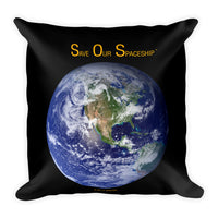 S.O.S. - Save Our Spaceship Pillow