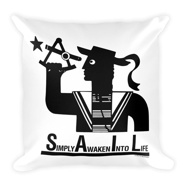 S.A.I.L.- Simply Awaken Into Life Pillow