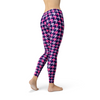 Womens Pink Purple Houndstooth Leggings