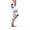 Womens Day Of The Dead Capri Leggings