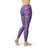 Womens Pink Purple Mermaid Leggings