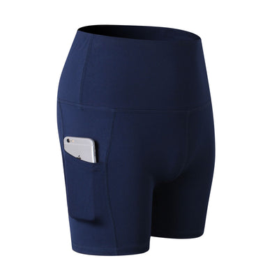 Blue seamless shorts