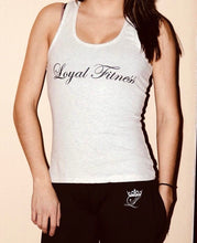 Women's Loyal Fitness tank - White/Grey