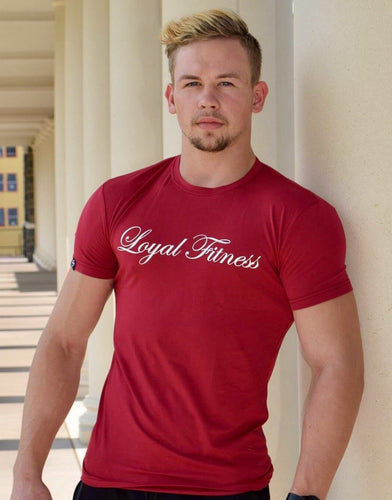 Burgundy Red Performance t-shirt