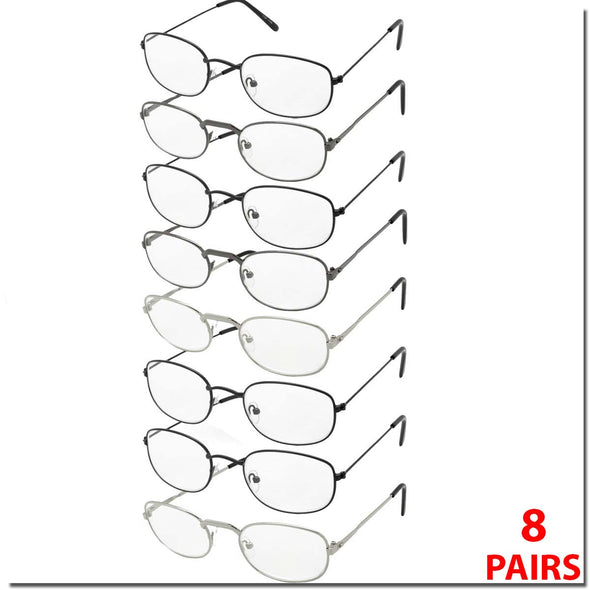 8 PACK METAL READERS