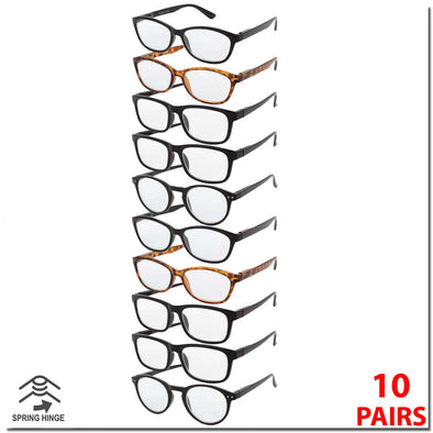 10 PACK ASSORTED STYLE READERS