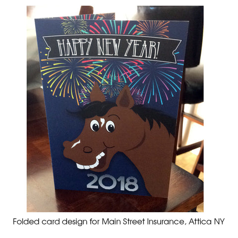 Main Street Insurance New Years Cards