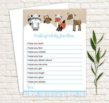 Load image into Gallery viewer, Winter Woodland Wishes for Baby Advice Cards