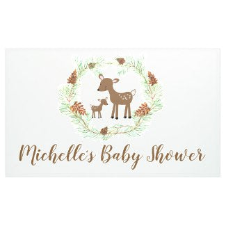Woodland Deer Custom Baby Shower Banner