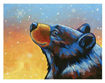 First Snow Black Bear Winter