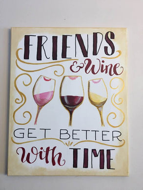 Friends and Wine Painting